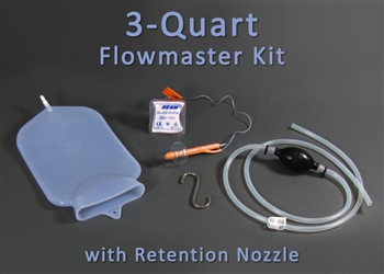 3 Quart Silicone Colon Tube Flowmaster Complete Colon Cleansing Enema Kit