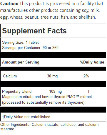 Thytrophin PMG ingredients