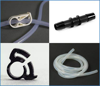 Enema Tubing/Hose, Connectors, Clamps