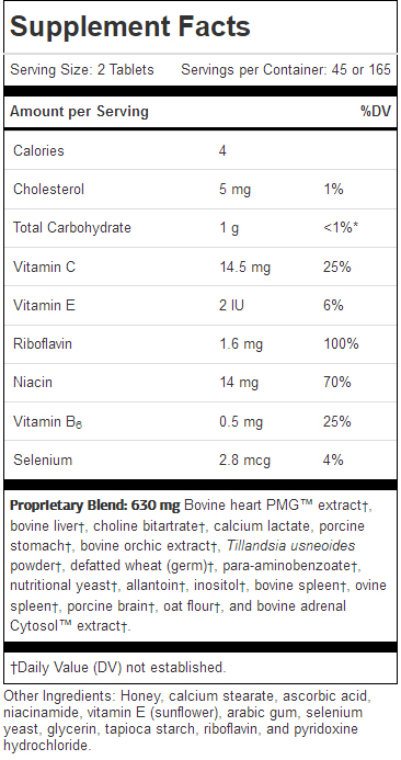 Cardio-Plus ingredients