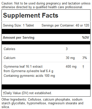 Gymnema ingredients