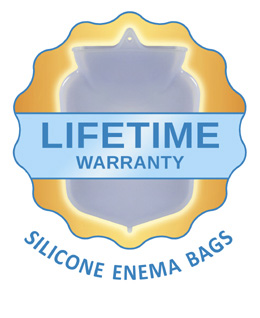 lifetime warranty silicone enema bags