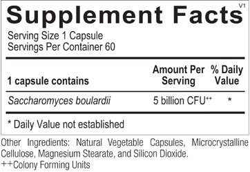Saccharomyces Boulardii ingredients