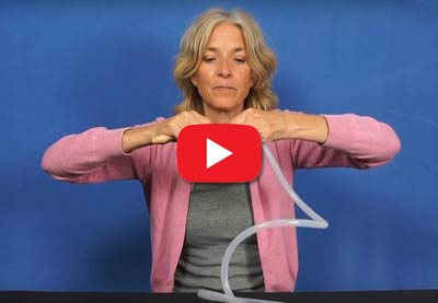 Short Video by Kristina Amelong: Securing Your Enema Nozzle to Your Enema Tubing